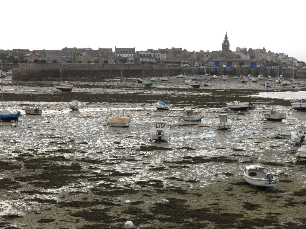 an image of several boats stranded in the mud